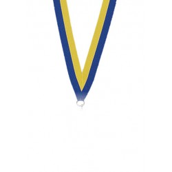 Medaljband Blå / gul