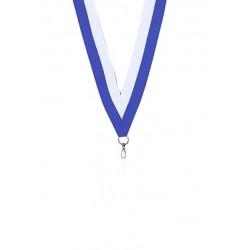 Medaljband Blå / vit