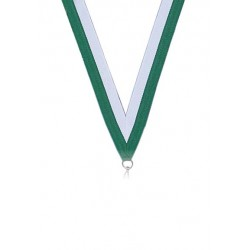 Medaljband Grön / vit