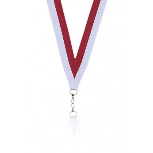 Medaljband Röd / vit