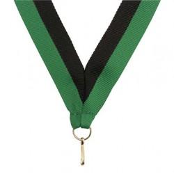 Medaljband Svart / grön