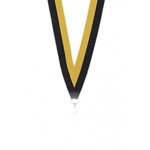 Medaljband Svart / gul