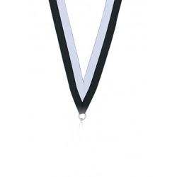 Medaljband Svart / vit