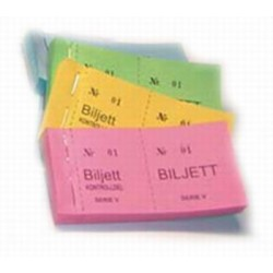 Biljettblock 1-100